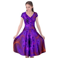 Fractal Mandelbrot Julia Lot Cap Sleeve Wrap Front Dress by Nexatart
