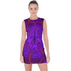 Fractal Mandelbrot Julia Lot Lace Up Front Bodycon Dress