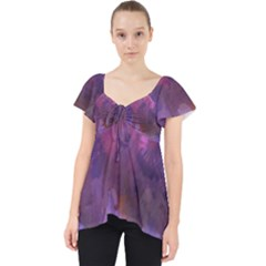 Ultra Violet Dream Girl Lace Front Dolly Top by 8fugoso