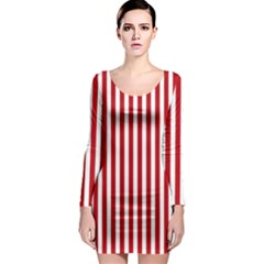 Red Stripes Long Sleeve Bodycon Dress by jumpercat