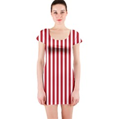 Red Stripes Short Sleeve Bodycon Dress by jumpercat