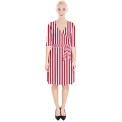 Red Stripes Wrap Up Cocktail Dress by jumpercat