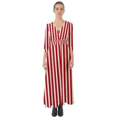 Red Stripes Button Up Boho Maxi Dress by jumpercat