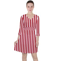 Red Stripes Ruffle Dress by jumpercat