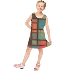 Background Abstract Colorful Kids  Tunic Dress