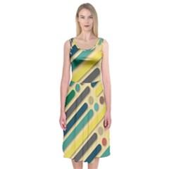 Background Vintage Desktop Color Midi Sleeveless Dress