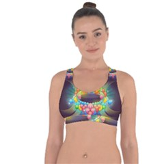Badge Abstract Abstract Design Cross String Back Sports Bra by Nexatart