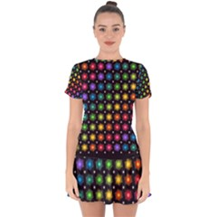 Background Colorful Geometric Drop Hem Mini Chiffon Dress by Nexatart