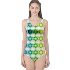 Background Colorful Geometric One Piece Swimsuit