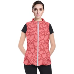 Background Hearts Love Women s Puffer Vest by Nexatart