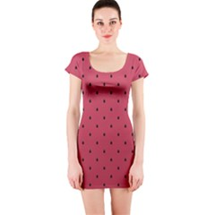 Watermelon Minimal Pattern Short Sleeve Bodycon Dress by jumpercat