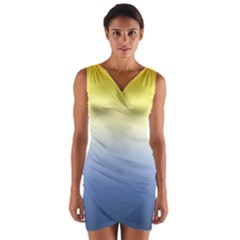 Sun Goes Down Wrap Front Bodycon Dress by jumpercat