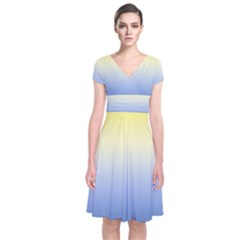 Sun Goes Down Short Sleeve Front Wrap Dress by jumpercat