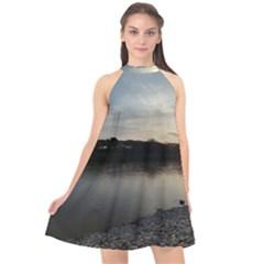 20180115 171420 Hdr Halter Neckline Chiffon Dress  by AmateurPhotographyDesigns