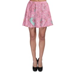 Unicorns Eating Ice Cream Pattern Skater Skirt by allthingseveryday