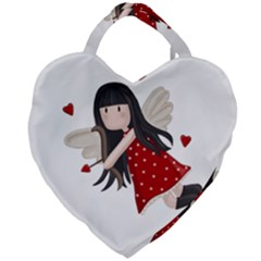 Cupid Girl Giant Heart Shaped Tote