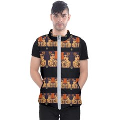 Geisha With Friends In Lotus Garden Having A Calm Evening Men s Puffer Vest by pepitasart