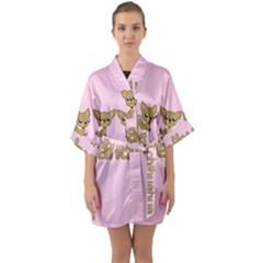 Chihuahua Quarter Sleeve Kimono Robe by Valentinaart