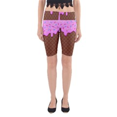 Chocolate And Strawberry Icecream Yoga Cropped Leggings by jumpercat