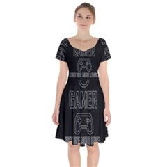 Gamer Short Sleeve Bardot Dress by Valentinaart