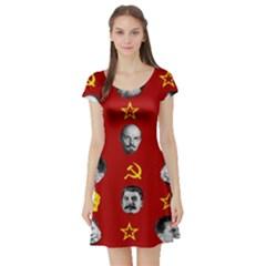 Communist Leaders Short Sleeve Skater Dress by Valentinaart