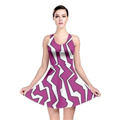 Electric Pink Polynoise Reversible Skater Dress by jumpercat