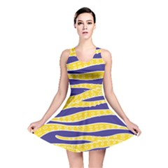 Yellow Tentacles Reversible Skater Dress