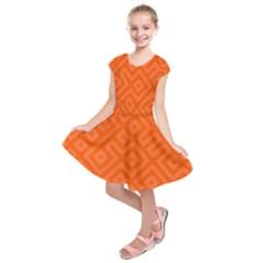 Seamless Pattern Design Tiling Kids  Short Sleeve Dress