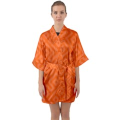 Seamless Pattern Design Tiling Quarter Sleeve Kimono Robe by Nexatart