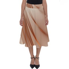 Background Light Glow Abstract Art Perfect Length Midi Skirt