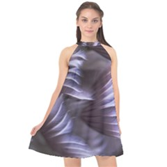 Sea Worm Under Water Abstract Halter Neckline Chiffon Dress  by Nexatart