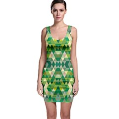 Forest Abstract Geometry Background Bodycon Dress