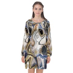 Time Abstract Dali Symbol Warp Long Sleeve Chiffon Shift Dress  by Nexatart