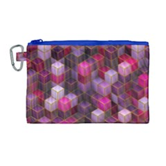 Cube Surface Texture Background Canvas Cosmetic Bag (large) by Nexatart