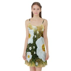 Summer Anemone Sylvestris Satin Night Slip by Nexatart