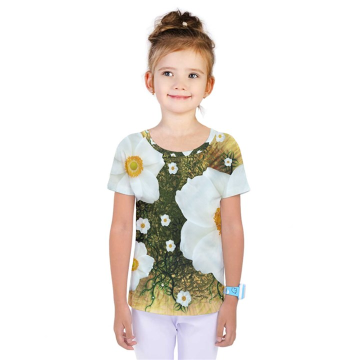 Summer Anemone Sylvestris Kids  One Piece Tee