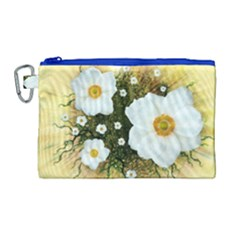 Summer Anemone Sylvestris Canvas Cosmetic Bag (large) by Nexatart