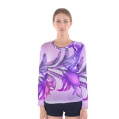 Flowers Flower Purple Flower Women s Long Sleeve Tee by Nexatart