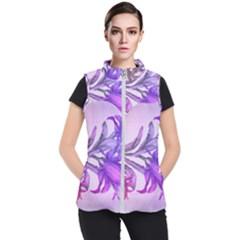 Flowers Flower Purple Flower Women s Puffer Vest by Nexatart