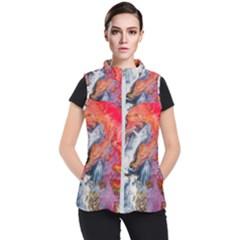 Art Abstract Macro Women s Puffer Vest by Nexatart