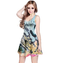 Abstract Structure Background Wax Reversible Sleeveless Dress