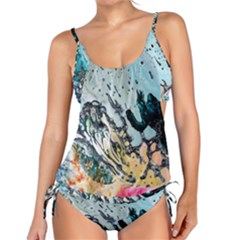Abstract Structure Background Wax Tankini Set by Nexatart