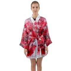 Flower Roses Heart Art Abstract Long Sleeve Kimono Robe by Nexatart