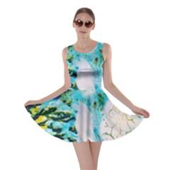 Abstract Art Modern Detail Macro Skater Dress