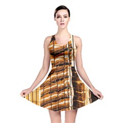 Abstract Architecture Background Reversible Skater Dress