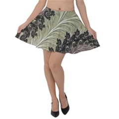 Pattern Decoration Retro Velvet Skater Skirt by Nexatart
