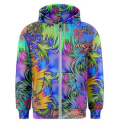 Star Abstract Colorful Fireworks Men s Zipper Hoodie