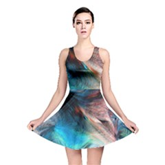 Background Art Abstract Watercolor Reversible Skater Dress