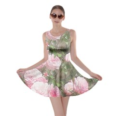 Flowers Roses Art Abstract Nature Skater Dress