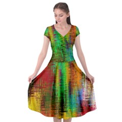 Color Abstract Background Textures Cap Sleeve Wrap Front Dress by Nexatart